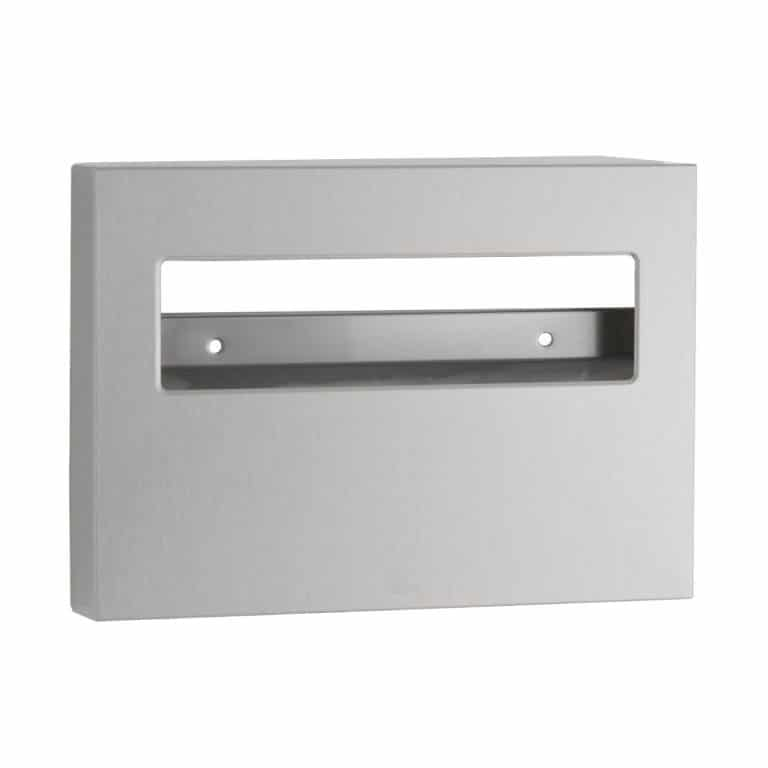 Bobrick B-221 ClassicSeries surface mount seat cover dispenser against white.