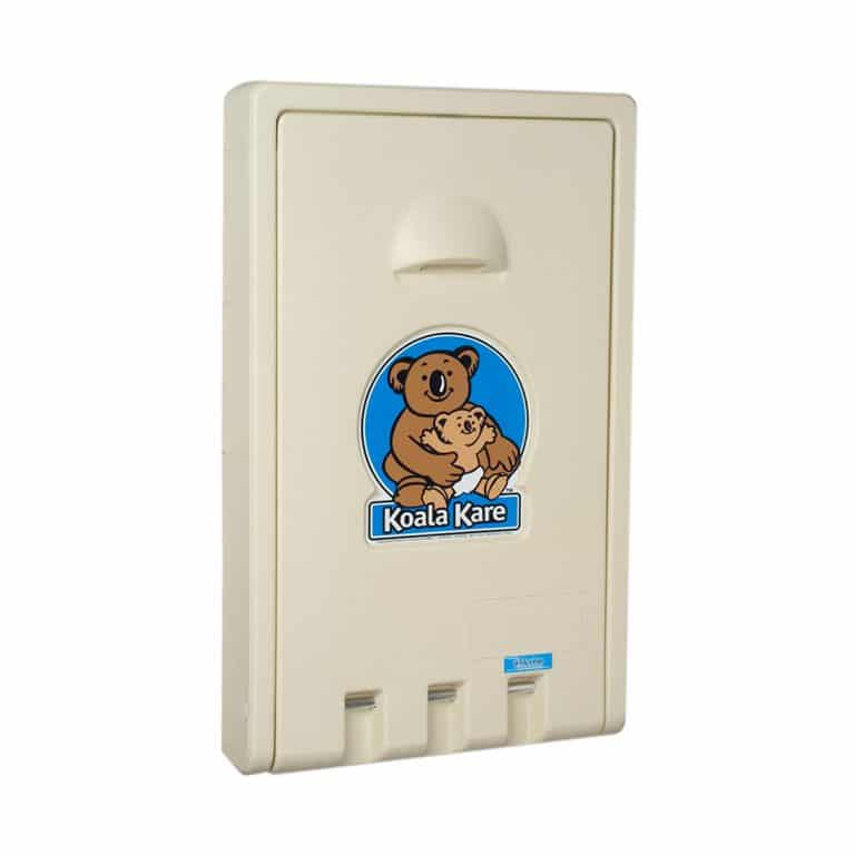 Koala Kare KB101 wall mounted baby changing station closed cream.