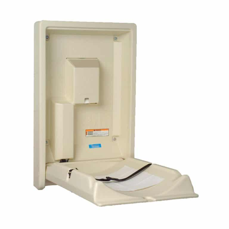 Koala Kare KB101 wall mounted baby changing station open cream.