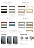 Restroom Partitions | Color Chart Options | Partitions Plus
