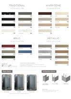Restroom Partitions | Color Chart Options | Partitions Plus