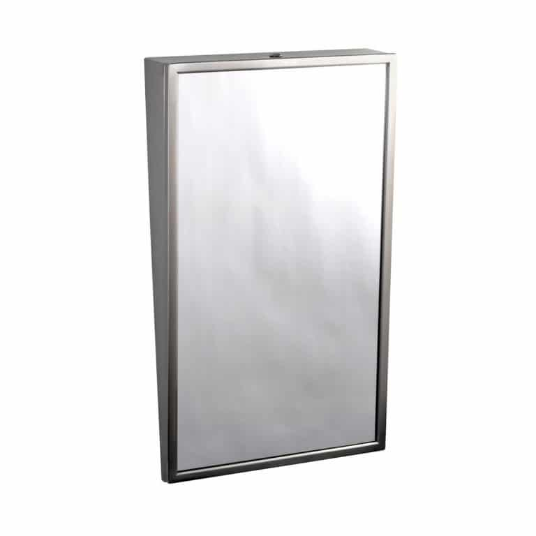 Bobrick B-293 Fixed Tilt Mirror pictured against a white background