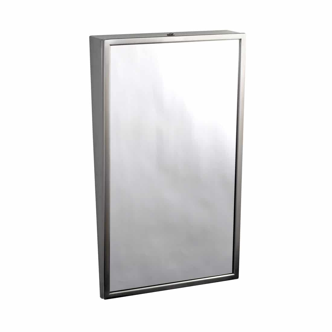 Bobrick Fixed Tilt Mirror Ada Compliant Stainless Partition Plus