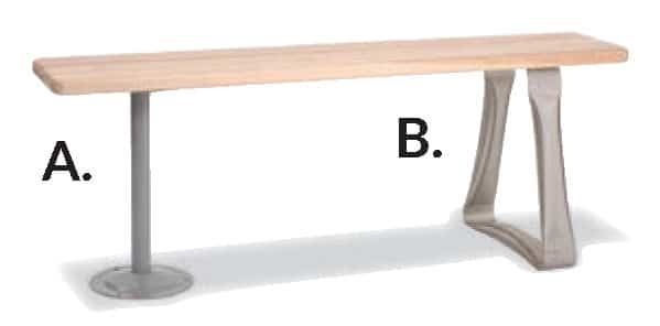 bench-pedistal-types