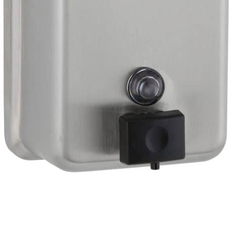 Detail of the Bobrick B-2111 ClassicSeries surface mounted soap dispenser.