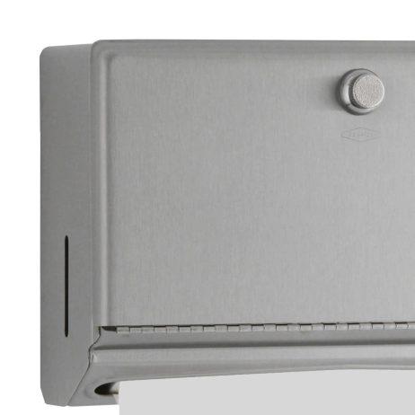 Detail of towel in Bobrick Surface Mount Paper Towel Dispenser B-2621