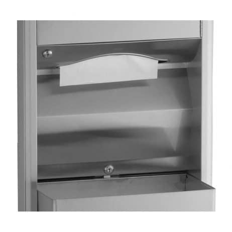 Bobrick Classic Semi Recessed Convertible Towel Dispenser Waste Receptacle B-3942