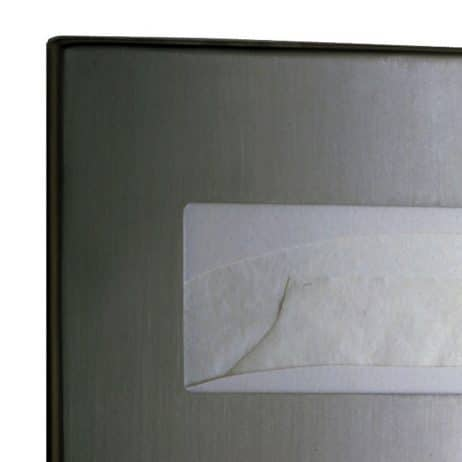 Bobrick Contura Surface Mounted Seat Cover Dispenser B-4221 detail view.