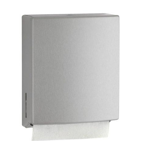 Bobrick Contura Surface Mount Paper Towel Dispenser B-4262 with towel.