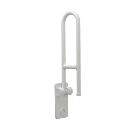Bobrick Vinyl Coated Swing Up Grab Bar B-49916 pictured raised.