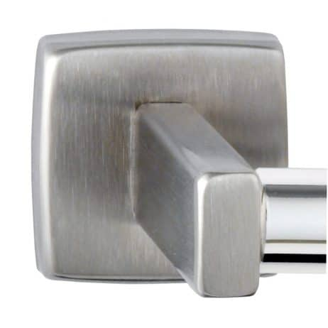 Bobrick Toilet Tissue Dispenser flange, satin finish.