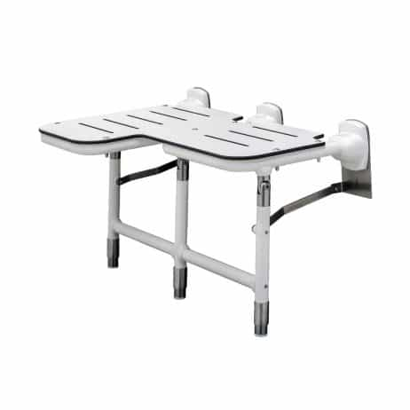 Bobrick Bariatric Folding Shower Seat with Legs B-918116 shown extended.