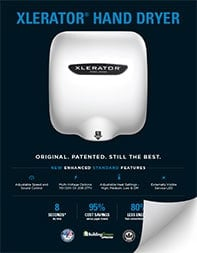 Thumbnail of the XLERATOR Hand Dryer Specification Sheet PDF