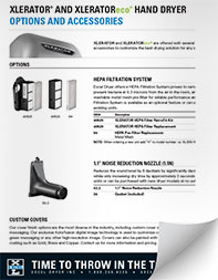 Thumbnail of the XLERATOR Options and Accessories PDF