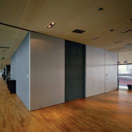 Hawa Junior 120/A sliding door system installed, contemporary setting.