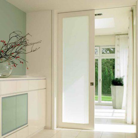 White room with Hawa Junior 40/Z sliding pocket door.