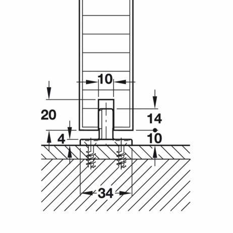 Floor guide fit cutaway diagram for Hawa Junior 40/Z.