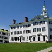 Photograph of a historic college's building in Hanover, New Hampshire.