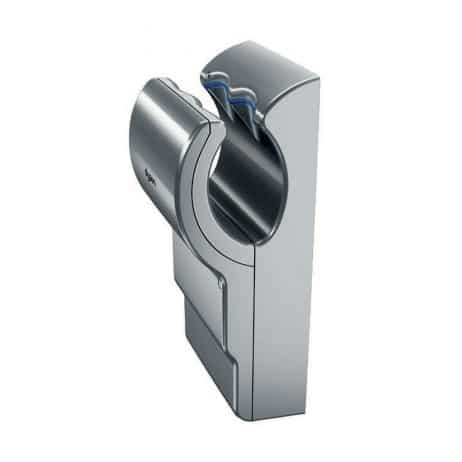 Angled view of Dyson Airblade dB hand dryer.