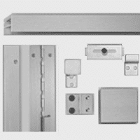 Example of hardware included with phenolic stall.