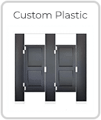 Custom Solid Plastic Toilet Partitions