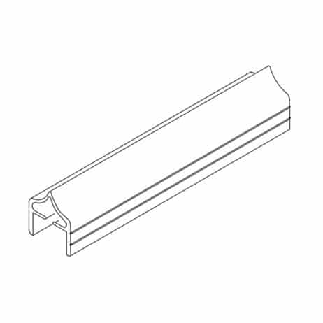 Additional line drawing of a metal headrail endcap from Scranton Products.