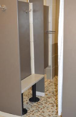 Shower dressing combo unit