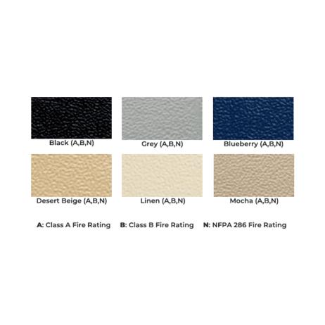 Color chart graphic for Scranton high-density polyethylene pilaster shoes.