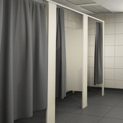 Rendering of shower curtains.