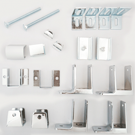Photograph of Hadrian 600421 hardware kit components.