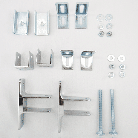 Photograph of Hadrian 600422 hardware kit components.
