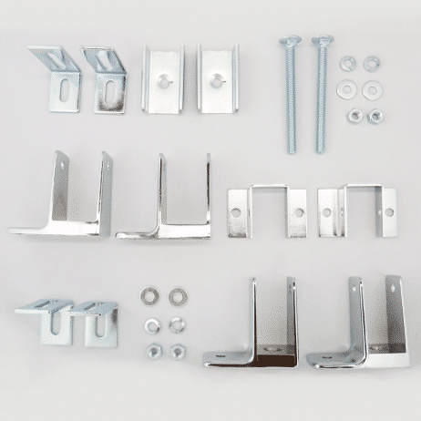 Photograph of Hadrian 600423 hardware kit components.