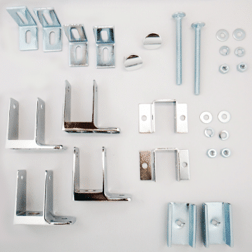 Photograph of Hadrian 600424 hardware kit components.