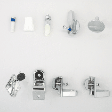 Photograph of Hadrian 601000 hardware kit components.