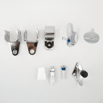 Photograph of Hadrian 601005 hardware kit components.