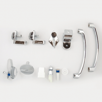 Photograph of Hadrian 601010 hardware kit components.