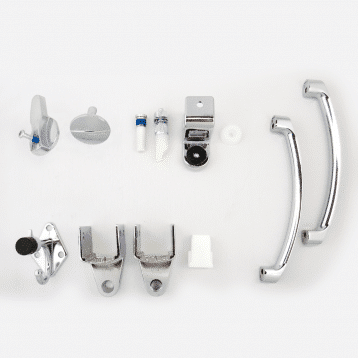 Photograph of Hadrian 601025 hardware kit components.