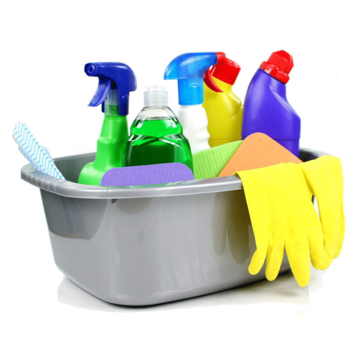 Cleaning products for use with toilet partitions.