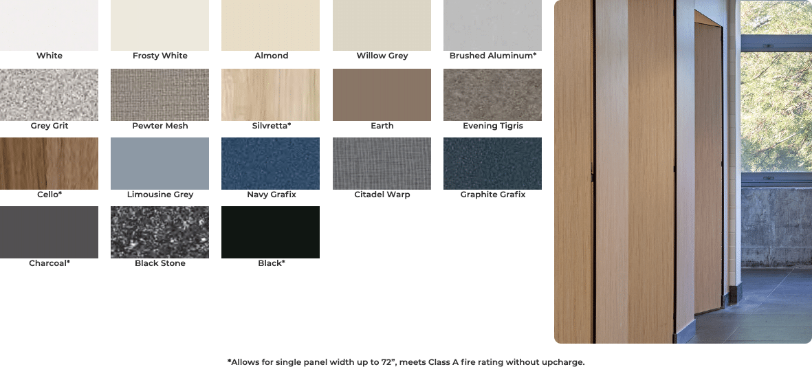 Solid phenolic color chart