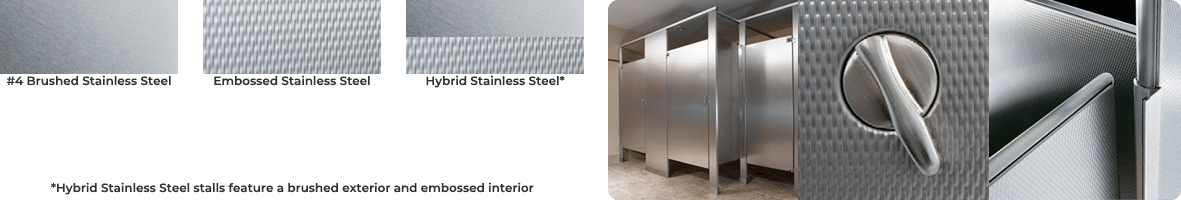 Stainless steel texture options
