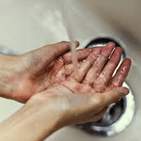 hand washing helps eliminate germs