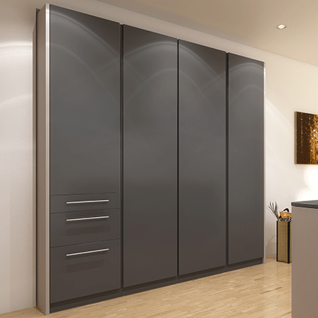 Rendering showing what a cabinet using the Concepta system looks like when closed.