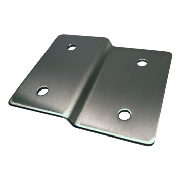 Close-up photograph of Bobrick Alcove Joggle Bracket Panel In-Line with Stile - 1000282.