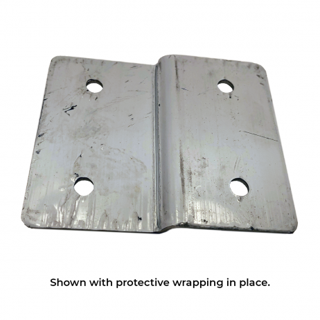 Photograph of the Bobrick Alcove Joggle Bracket Panel In-Line with Stile - 1000282 with protective wrapping in-place.