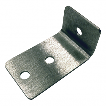 Photograph showing detail of Bobrick L-Bracket External Panel-to-Stile - 1000351.
