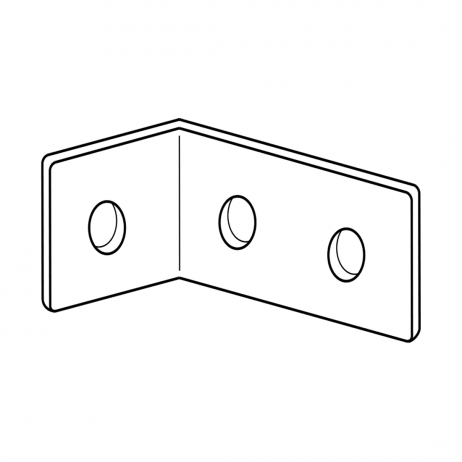 "Line drawing of Bobrick ""L""-bracket."