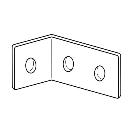 "Line drawing of Bobrick ""L""-bracket."