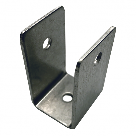 "Photograph of the Bobrick U-Bracket Internal 1"" Panel-to-Stile - 1000356 sitting upright."