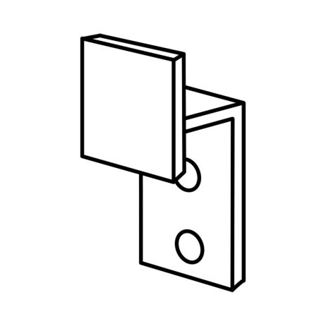 Line drawing of Bobrick Clothes Hook – 1000869.
