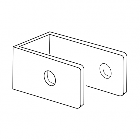 Line drawing of a Bobrick U-Bracket.